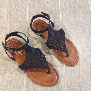 Jessica Simpson Black Sandals 8.5